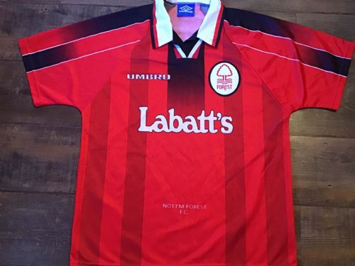 1996 1997 Nottingham Forest Home Football Shirt Large